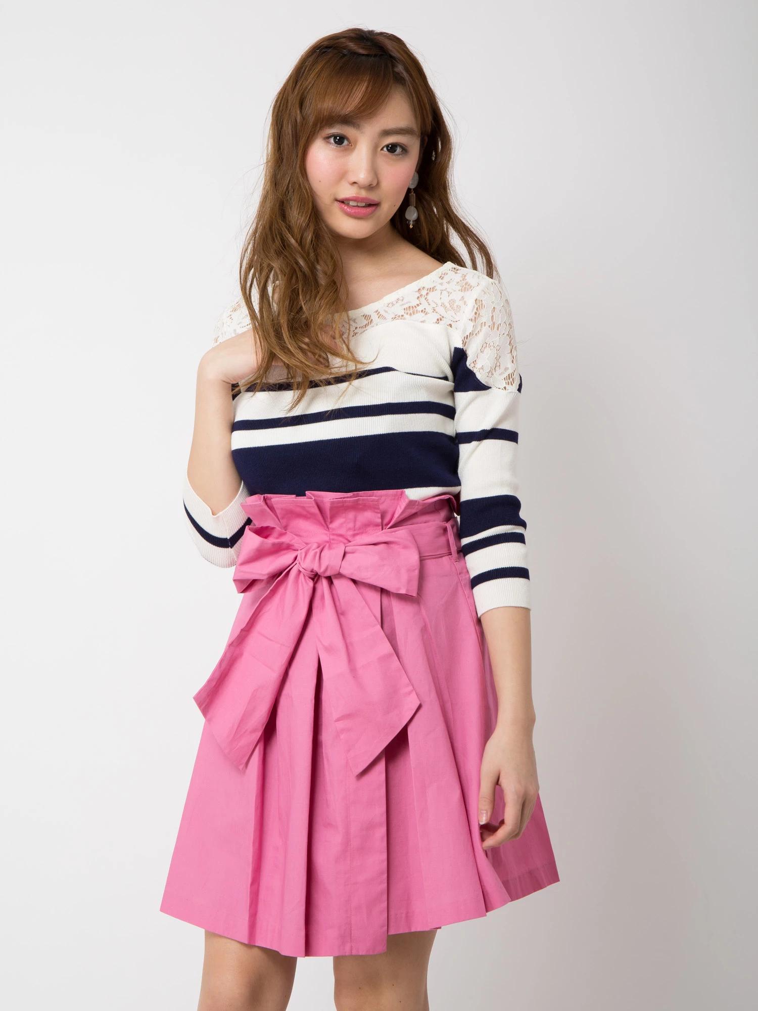 タックフレア巻きスカート