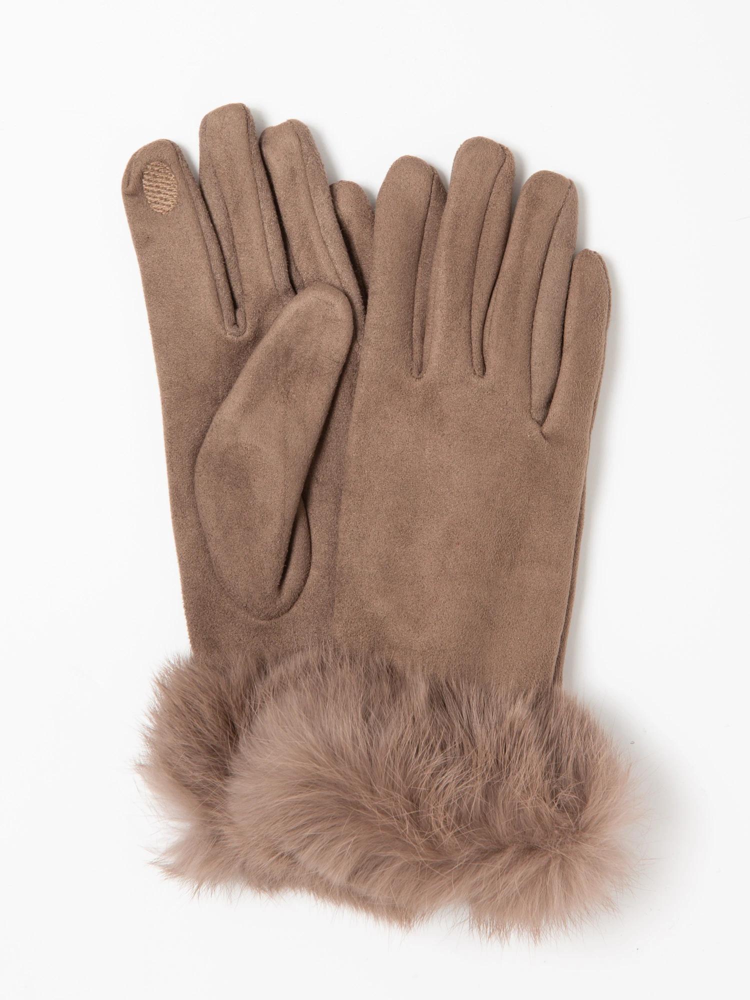 フェイクスエード毛付き手袋