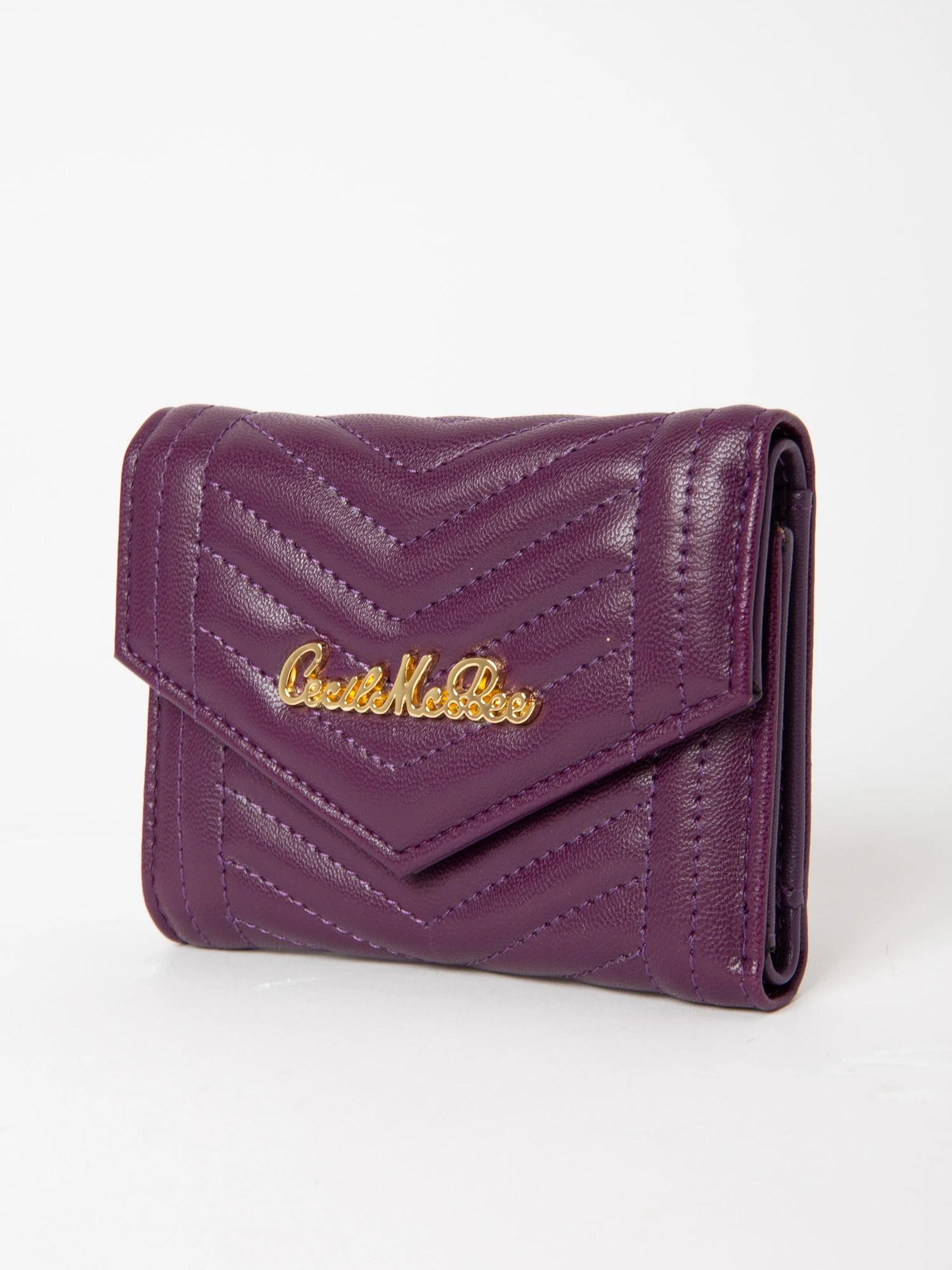 V型キルティング折り財布