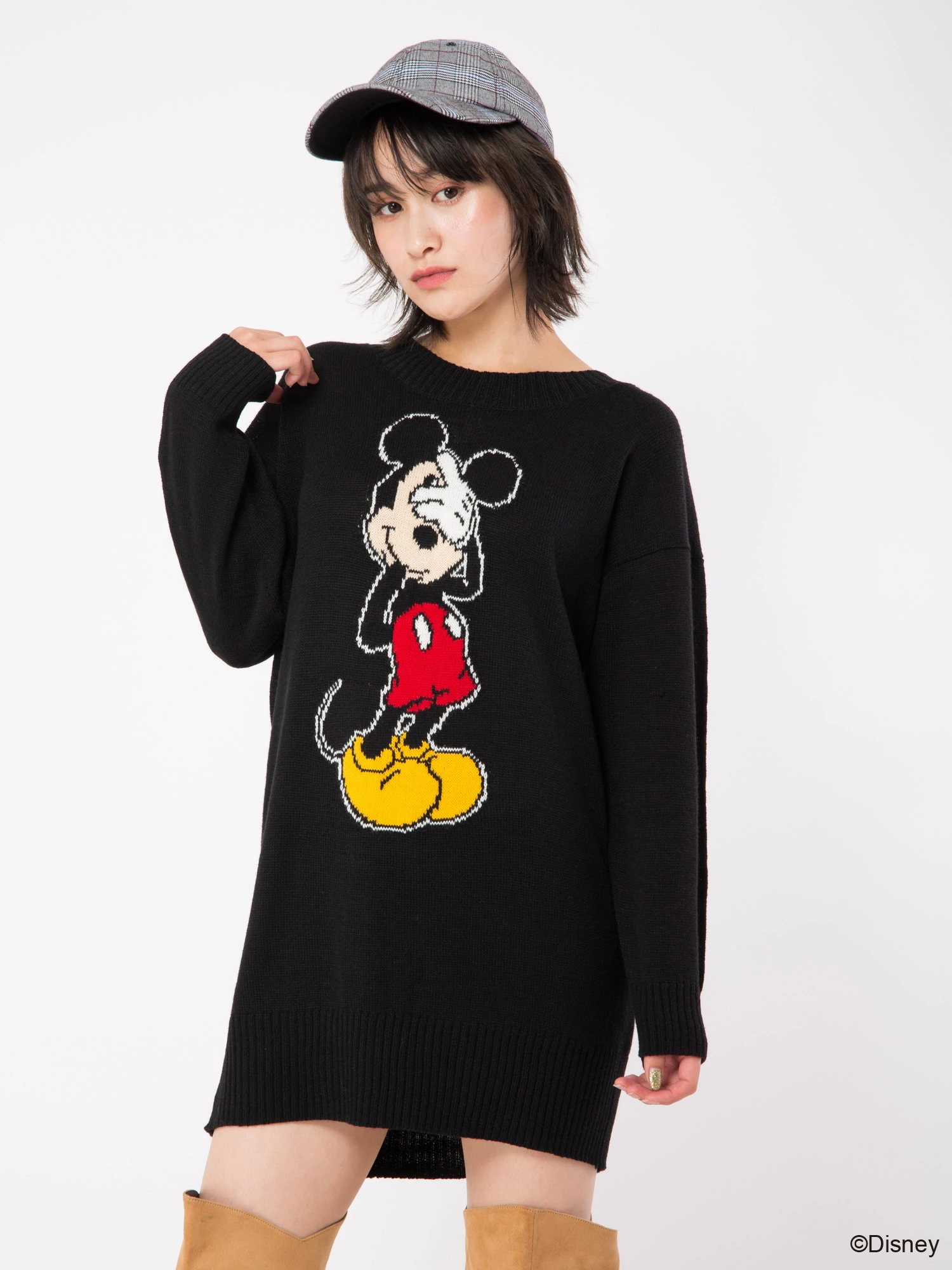 背中スピンドルニットチュニック/Disney Collection Vol.2