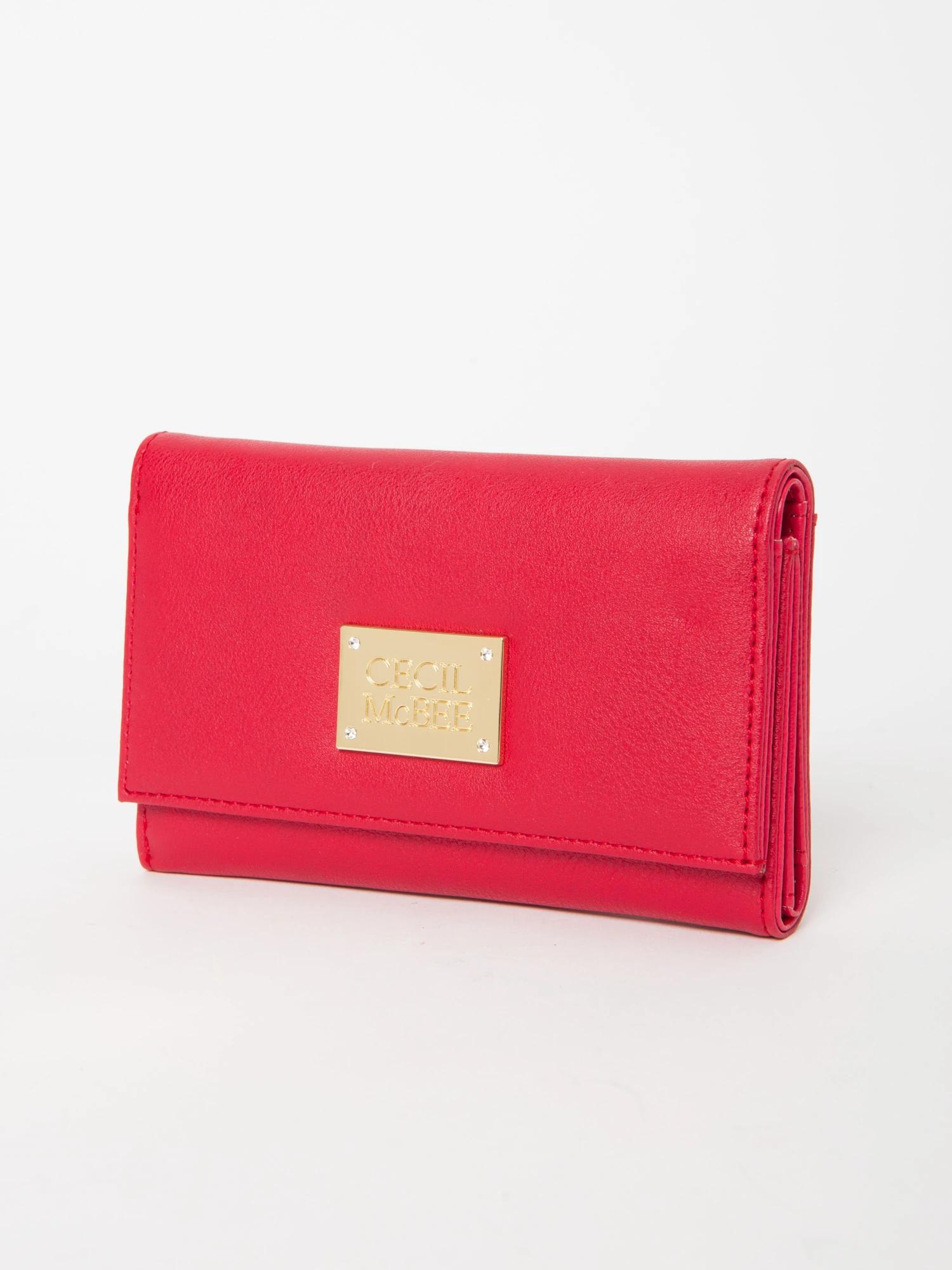 四角プレート三折り中財布