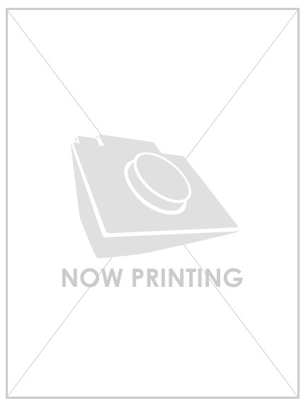 透かし衿ニットプルオーバー
