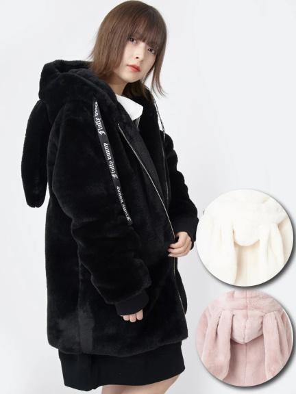 ラビットファーコート Ank Rouge アンクルージュ のコート ファッション通販 Ailand アイランド